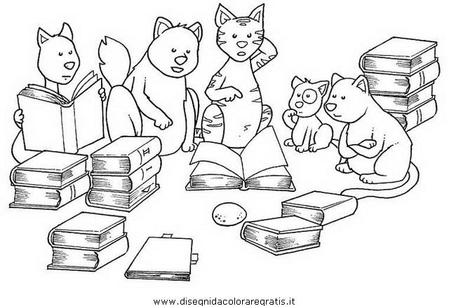 Disegno gabbianella gatto personaggio cartone animato