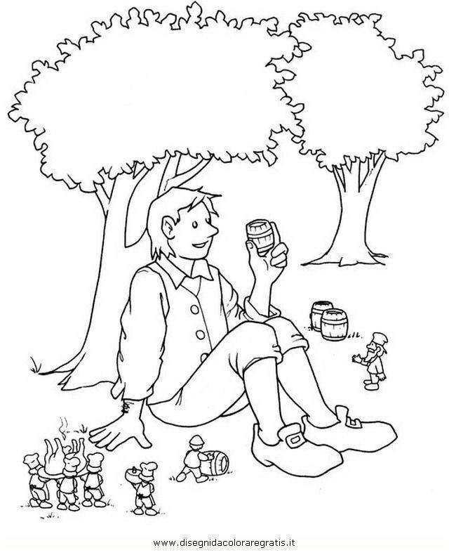Disegno gulliver personaggio cartone animato da colorare