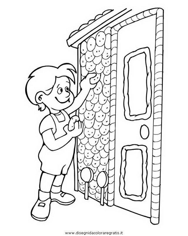 Disegno hansel gretel personaggio cartone animato da