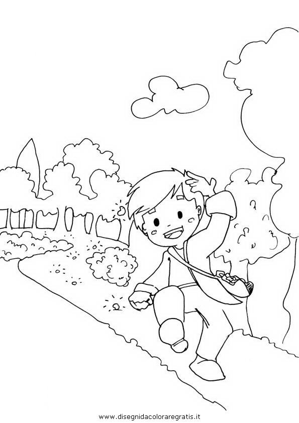 Disegno pollicino personaggio cartone animato da colorare