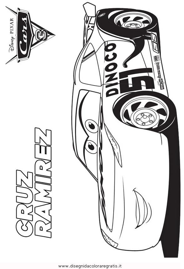 Disegno A Cars3 3 Personaggio Cartone Animato Da Colorare