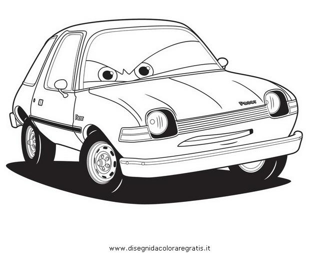 Personaggi cars da colorare disegno pacer