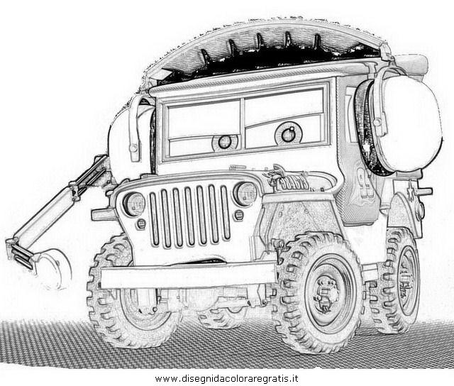 Disegno cars sergente personaggio cartone animato da