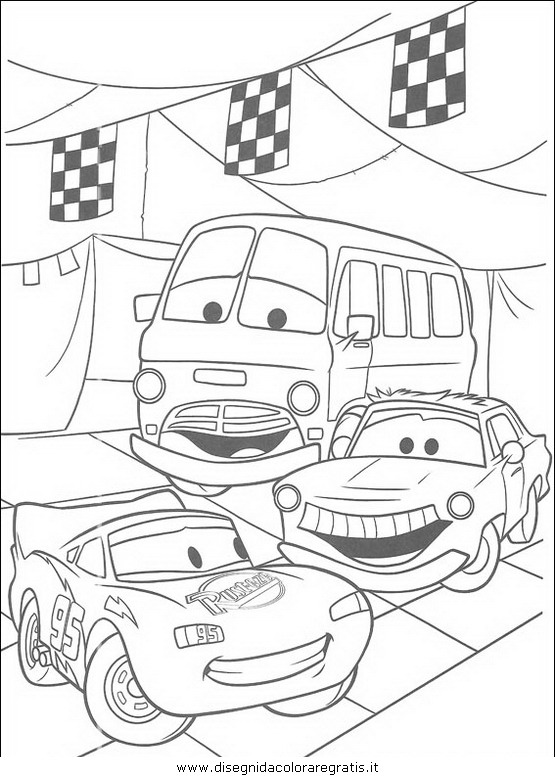 Disegno cars personaggio cartone animato da colorare