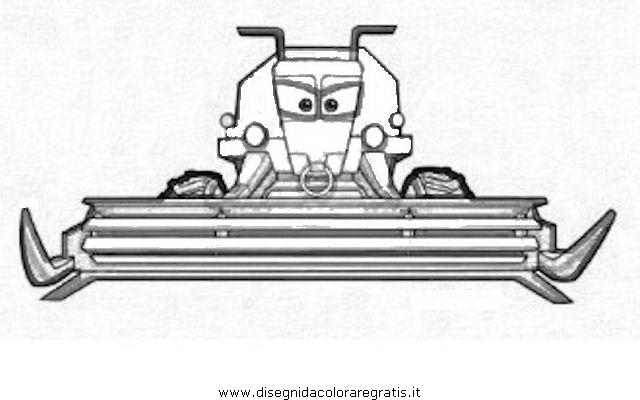 Disegno cars frank personaggio cartone animato da colorare