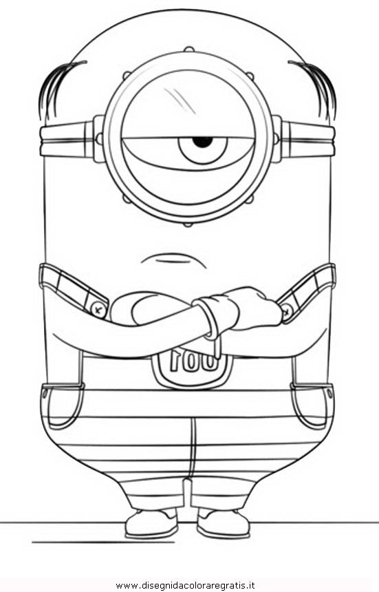 Disegno A Cattivissimo Me3 16 Personaggio Cartone Animato Da Colorare