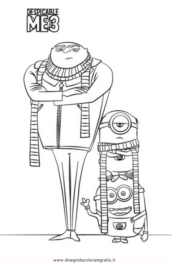 Disegno A Cattivissimo Me3 18 Personaggio Cartone Animato Da Colorare