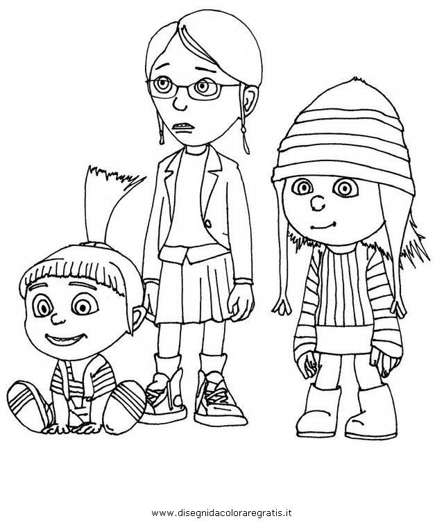 Disegno Cattivissimome12 Personaggio Cartone Animato Da Colorare