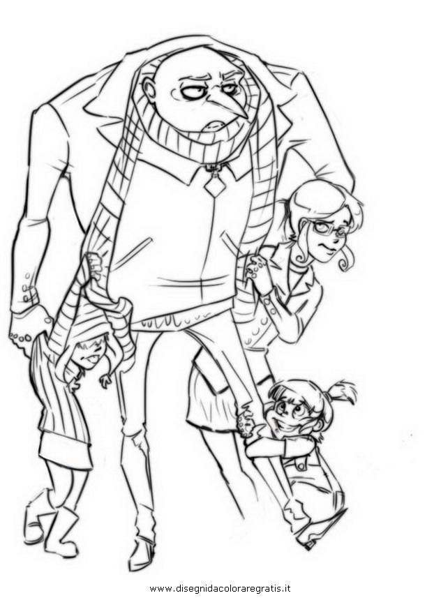 Disegno Cattivissimome19b Personaggio Cartone Animato Da Colorare