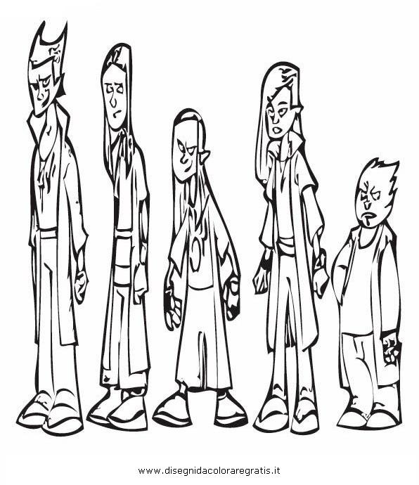 Disegno celestini personaggio cartone animato da colorare