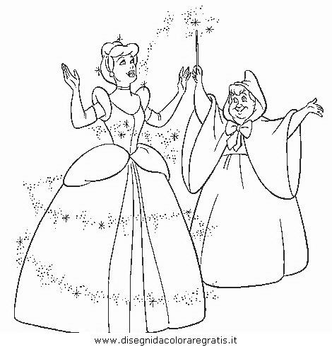 Disegno Cenerentola 05 Personaggio Cartone Animato Da Colorare