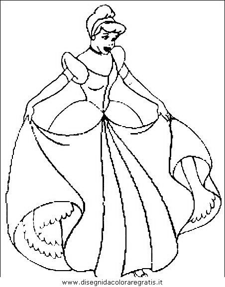 Disegno cenerentola personaggio cartone animato da