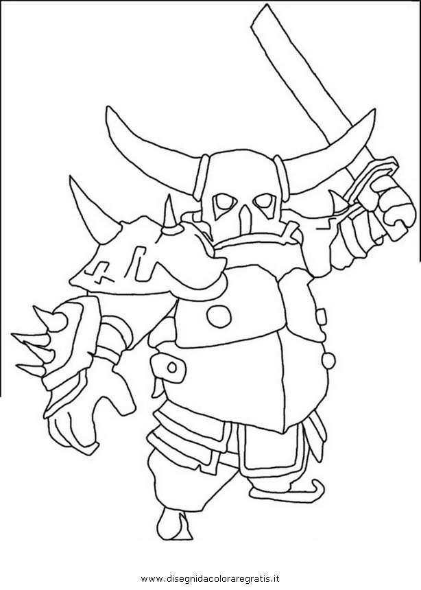 Disegno Clashofclans Pekka 002 Personaggio Cartone Animato Da Colorare