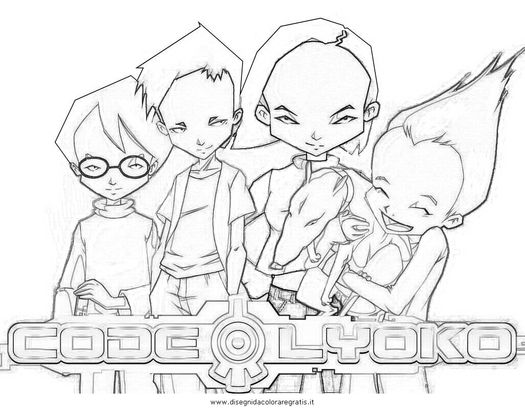 disegno code lyoko 2  personaggio cartone animato da colorare
