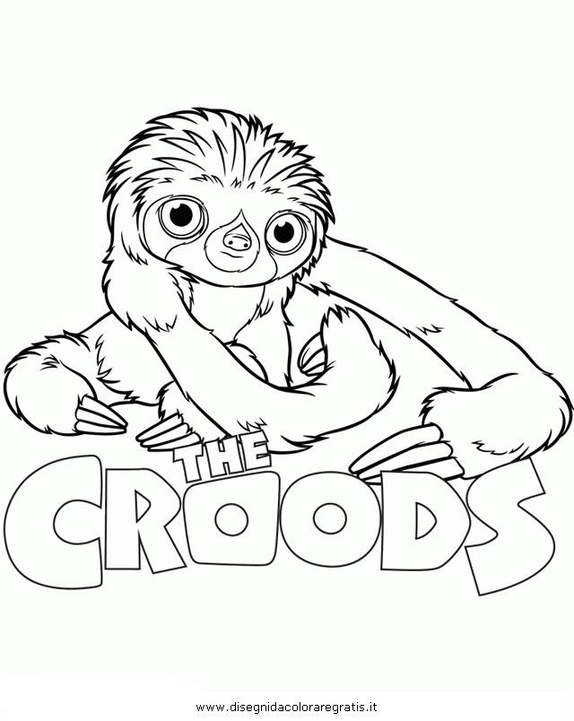 Disegno croods scimmia personaggio cartone animato da