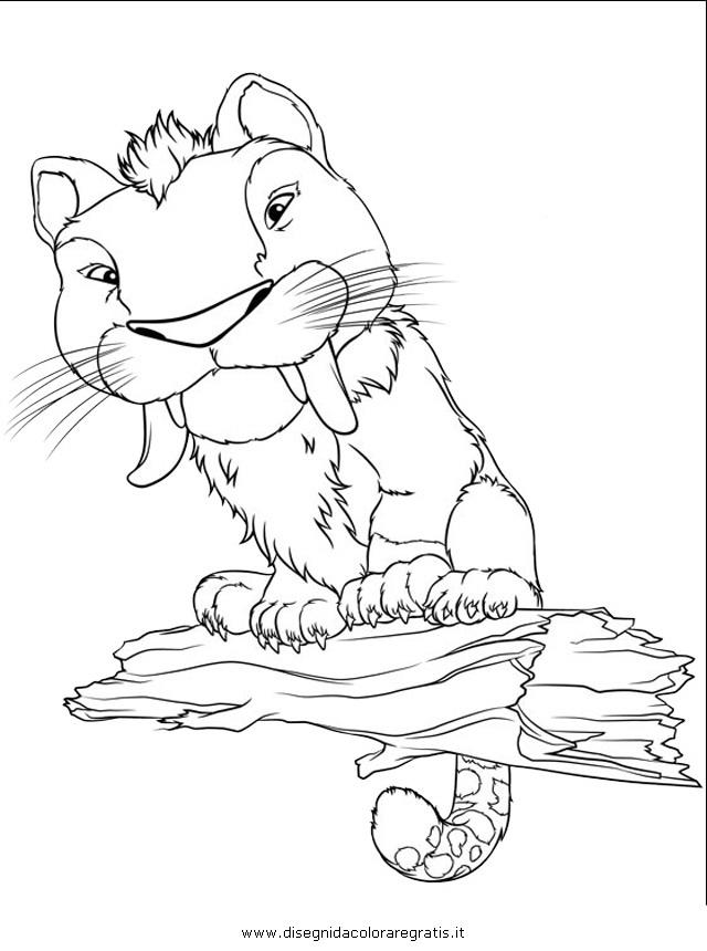 Disegno croods personaggio cartone animato da colorare