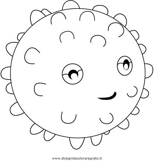 Disegno bollicina il riccio di mare personaggio cartone for Disegni di mare da colorare