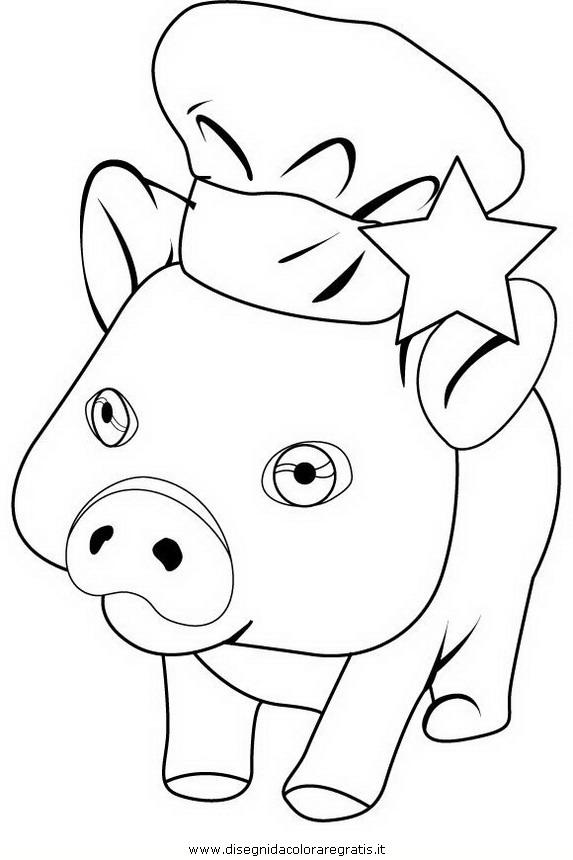 Disegno charlie il maiale personaggio cartone animato da