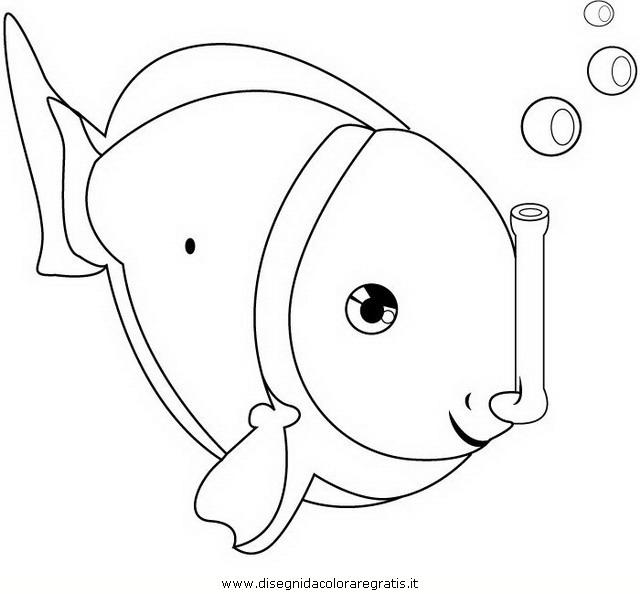Disegno pluff il pesce chirurgo blu personaggio cartone