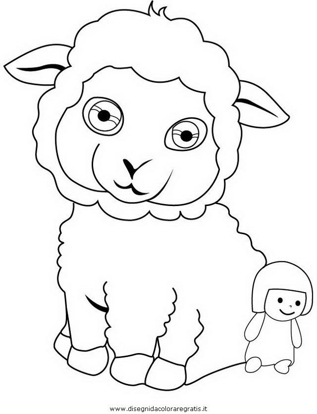 Disegno pon la pecora personaggio cartone animato da