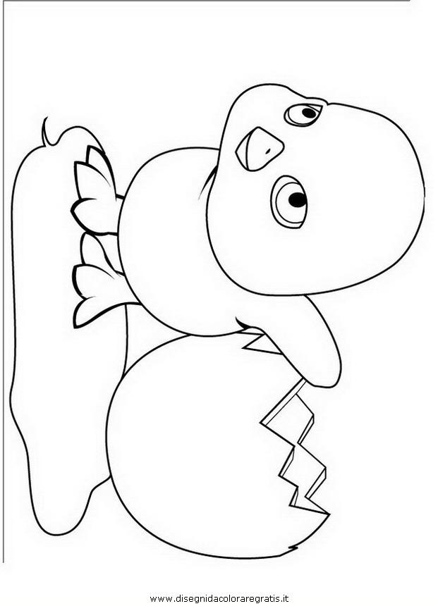 Disegno pulcino personaggio cartone animato da colorare