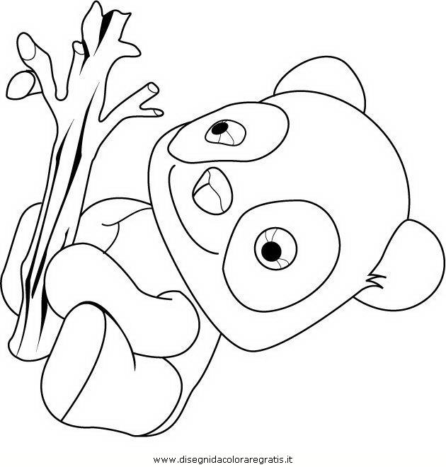 Disegno Tao Il Panda Personaggio Cartone Animato Da Colorare