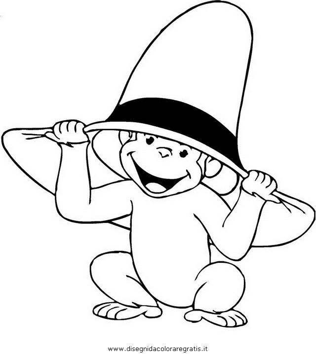 Disegno Curioso George 08 Personaggio Cartone Animato Da