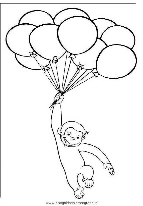Disegno Curioso George 30 Personaggio Cartone Animato Da Colorare