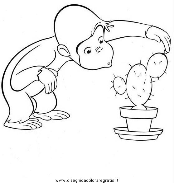 Disegno curioso george 33 personaggio cartone animato da - Cartone animato animali da colorare pagine ...