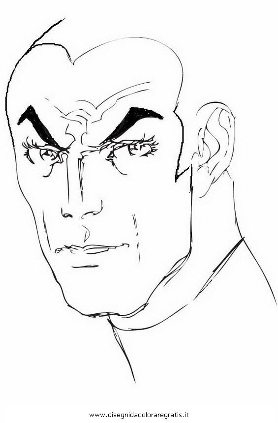 Disegno diabolik personaggio cartone animato da colorare