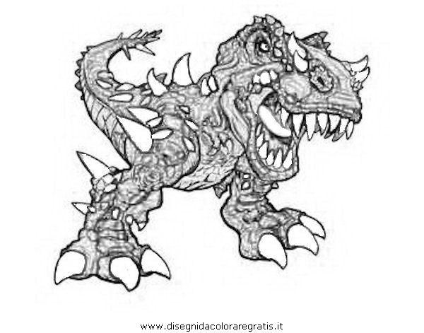 Disegno dinofroz personaggio cartone animato da colorare