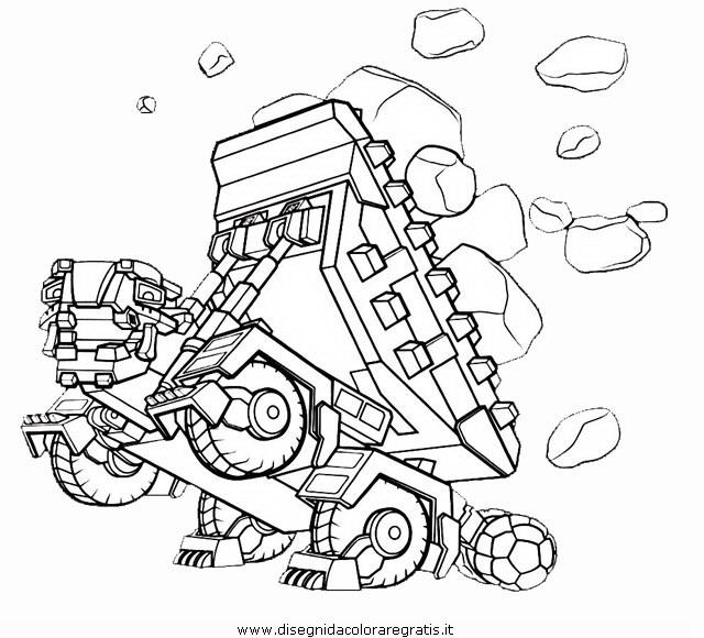 Disegno dinotrux personaggio cartone animato da colorare