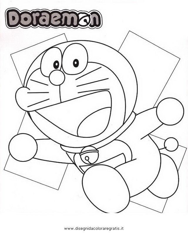 Disegno doraemon personaggio cartone animato da colorare