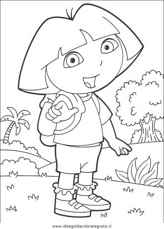 Disegno dora esploratrice personaggio cartone animato
