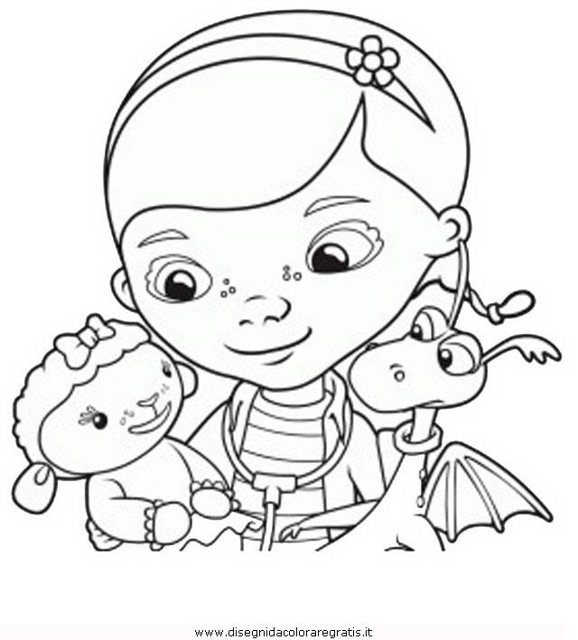 Disegno dottoressa peluches personaggio cartone animato