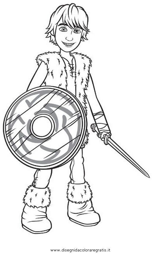 Disegno Dragon Trainer 10 Personaggio Cartone Animato Da Colorare