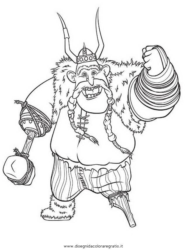Disegno dragon trainer personaggio cartone animato da