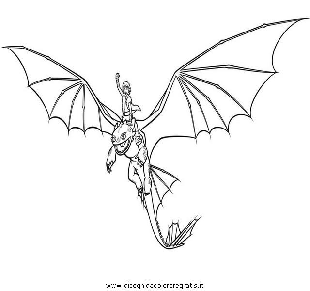 Disegno Dragon Trainer 23 Personaggio Cartone Animato Da