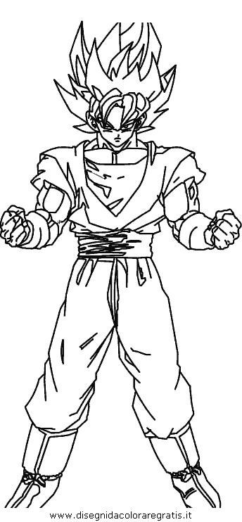 Disegno Dragon Ball 14 Personaggio Cartone Animato Da Colorare
