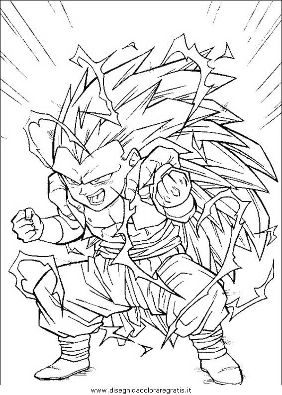 Disegno dragonball personaggio cartone animato da colorare