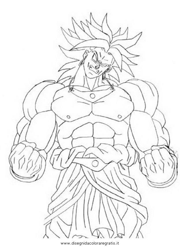 Disegno Dragonballbroli Personaggio Cartone Animato Da Colorare