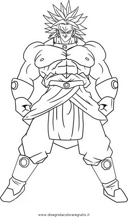 Disegni Da Colorare Di Dragon Ball Broly Fredrotgans