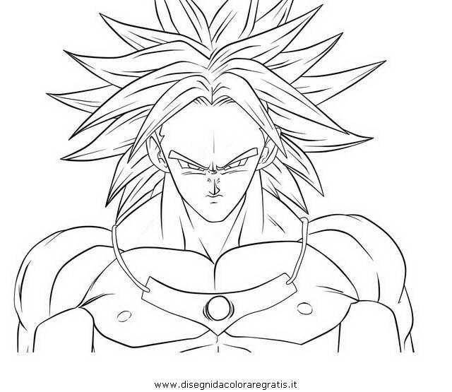 Disegno dragonball broly personaggio cartone animato