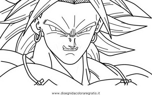 Disegno Dragonballbroly06 Personaggio Cartone Animato Da Colorare