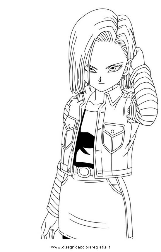 Disegno dragonball c18 2 personaggio cartone animato da - Dragon ball c18 ...