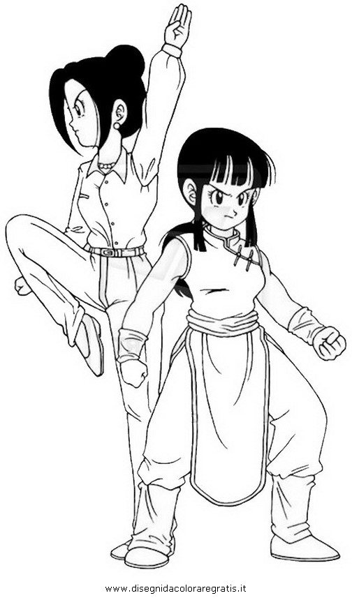 chi coloring pages | Dragon Ball Z Chi Coloring Pages Sketch Coloring Page