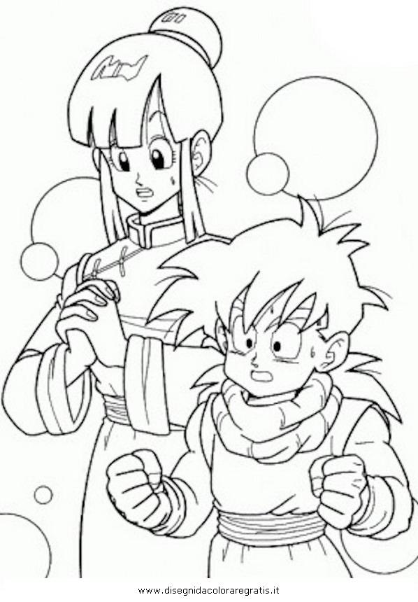Disegno dragonball chichi kiki personaggio cartone