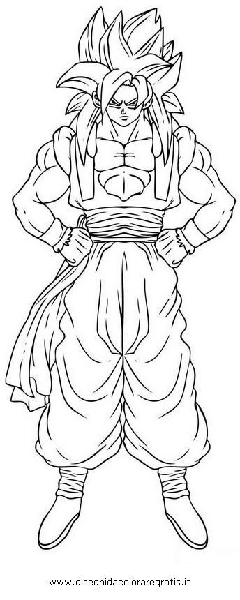 Disegno dragonball gogeta personaggio cartone animato da