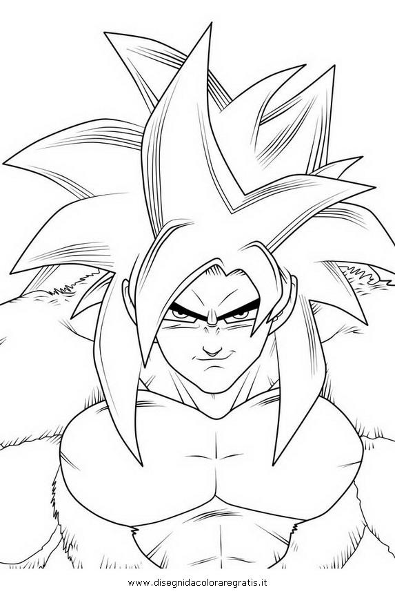 Disegno dragonball goku ssj super sajan personaggio