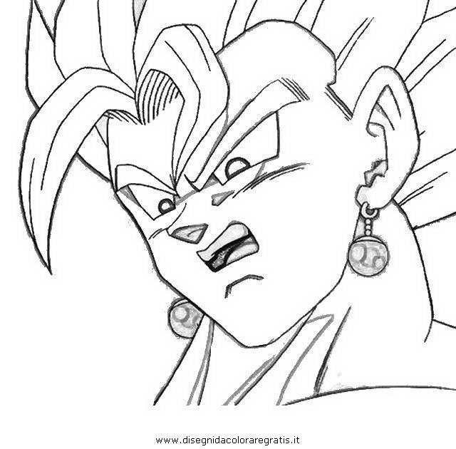 Disegno dragonball vegekou personaggio cartone animato